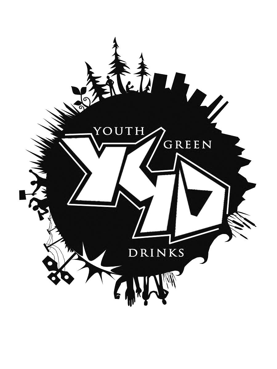 Youth Green Drinks globe logo | Grafixphere Design